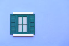 Vintage window with wall background Royalty Free Stock Photos