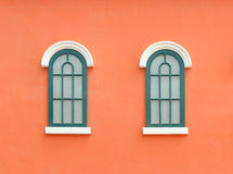 Vintage window with wall background Stock Photos