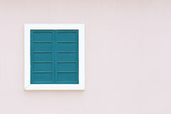 Vintage window with wall background Royalty Free Stock Image
