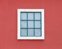 Vintage window with wall background Royalty Free Stock Images