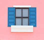 Vintage window with wall background Stock Photo