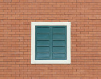 Vintage window with wall background Stock Photography