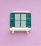 Vintage window with wall background Stock Image