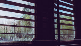 Vintage window with water drop. Royalty Free Stock Photos