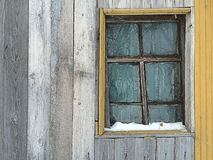 Vintage window. On a wood wall royalty free stock photo