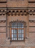 Vintage Windows in a brick house stock images