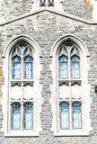 Vintage windows details in Toronto heritage building Royalty Free Stock Photo