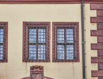 Vintage windows, Leipzig Germany Royalty Free Stock Photo