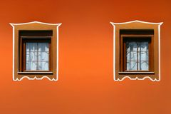 Vintage windows and wall Royalty Free Stock Photography