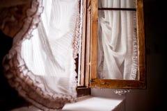 Vintage windows wood. Vintage windows brown wood,  tends grandmother Royalty Free Stock Images