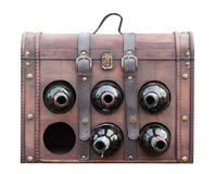 Vintage wine bag isloated on white with clipping path Stock Image