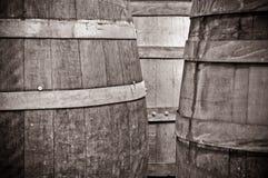 Vintage Wine Barrels Stock Images