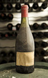 Vintage wine bottle Royalty Free Stock Image