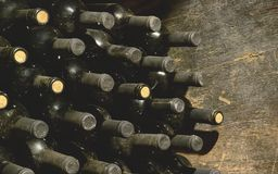 Vintage wine bottles royalty free stock image