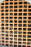 Vintage wine bottles stacked in the wine cellar Stock Photos