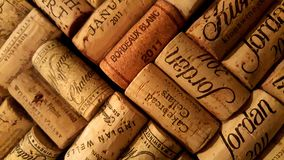 2011 vintage wine corks Royalty Free Stock Photo