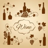 Vintage wine design elements for menu Stock Photos
