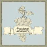 Vintage wine label vector illustration