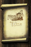 Vintage wine label Royalty Free Stock Image