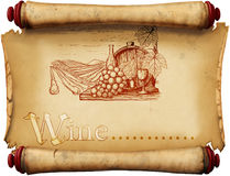 Vintage wine label Royalty Free Stock Photos