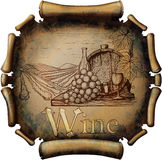 Vintage wine label Stock Images