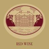 Vintage wine label Stock Image