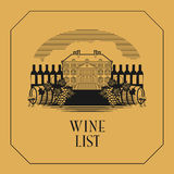 Vintage wine label or wine list Royalty Free Stock Image