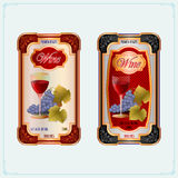 Vintage Wine labels, template design Royalty Free Stock Photos