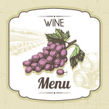 Vintage wine menu background Stock Photos