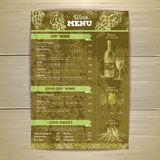 Vintage wine menu design. Document template Royalty Free Stock Photos