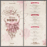 Vintage wine menu design. Document template Stock Photo