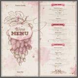 Vintage wine menu design. Document template Stock Photo