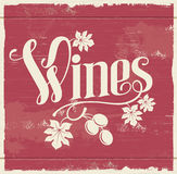 Vintage wine sign Stock Image