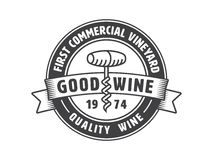 Vintage winery label Royalty Free Stock Photography