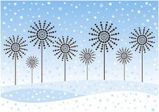 Vintage winter flowers background Stock Image
