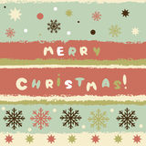Vintage winter greeting card Royalty Free Stock Images