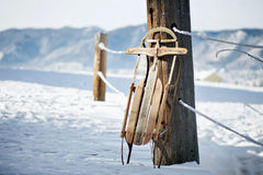 Vintage Winter Sled Stock Image
