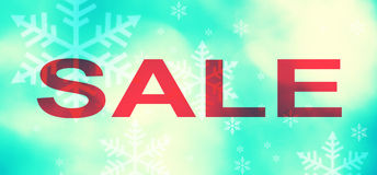 Vintage winter special sale background Stock Image