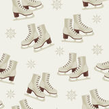Vintage winter wallpaper with skates Stock Image