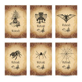 Vintage Witchcraft Banner Set Royalty Free Stock Image