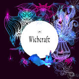 Vintage Witchcraft Frame Stock Image