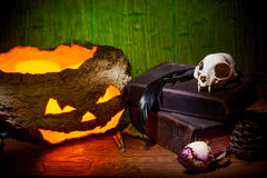 Vintage witchcraft still life. Stock Images