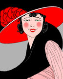 Vintage woman Royalty Free Stock Photos