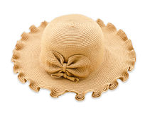 Vintage woman hat isolated on white background. Stock Images