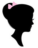 Vintage woman head silhouette Stock Photography