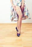 Vintage woman legs Stock Images