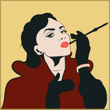 Vintage woman Stock Photography