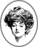 Vintage Woman Portrait Collection #1 royalty free illustration