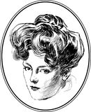 Vintage Woman Portrait Collection #2 royalty free illustration