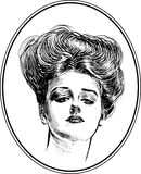 Vintage Woman Portrait Collection #4 royalty free illustration
